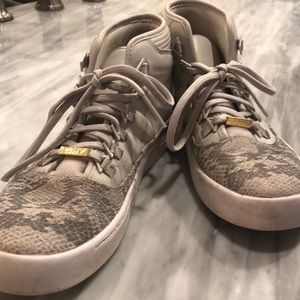 Westbrook tennis shoes - snake skin print canvas